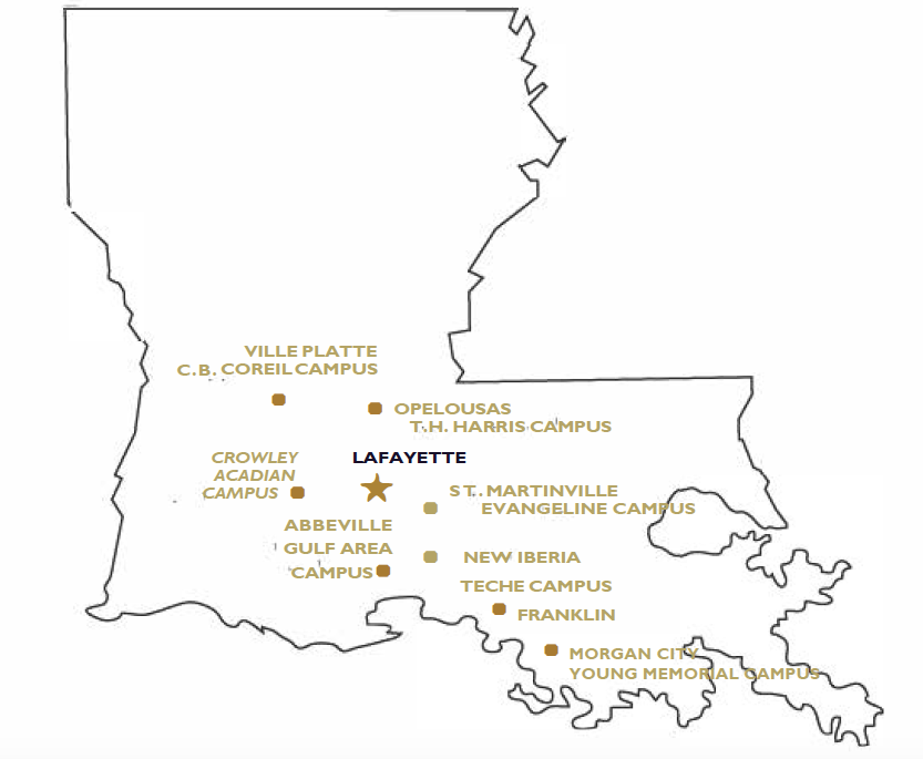 slcc lafayette campus map Campus Locations South Louisiana Community College Acalog Acms